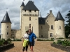 Steph and Lisa at Chateau de Riveau