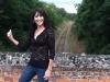 Steph at train tracks