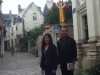 Steph and Thomas in Chinon