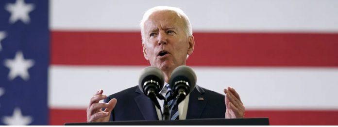 Biden speech flag